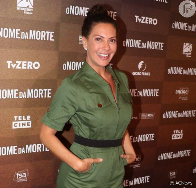 Fabiula Nascimento lança filme 'O Nome da Morte' no Shopping Leblon, no Rio de Janeiro, nesta terça-feira, 31 de julho de 2018