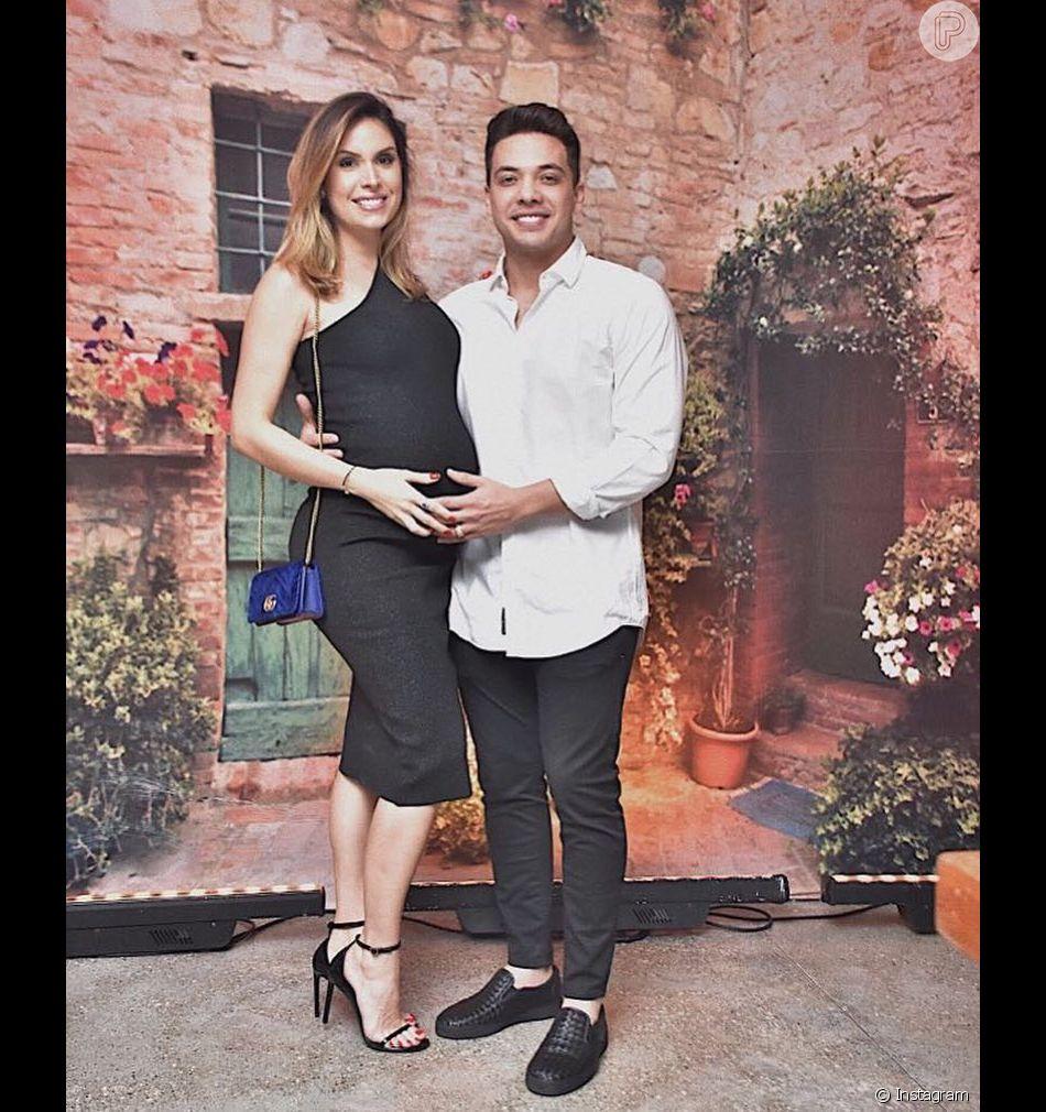 Wesley Safadão comemorou bodas de algodão (dois anos de casamento) com a mulher, Thyane Dantas, nesta quarta-feira, 1º de agosto de 2018