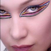 Delineado em alta! Maquiador da Dior propõe olho gráfico em make multicolorida