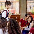 Luca (João Guilherme) chega ao Ruth Goulart para seu primeiro dia de aula junto dos demais alunos e deixa as meninas alvoroçadas, no capítulo que vai ao ar terça-feira, dia 14 de agosto de 2018, na novela 'As Aventuras de Poliana'