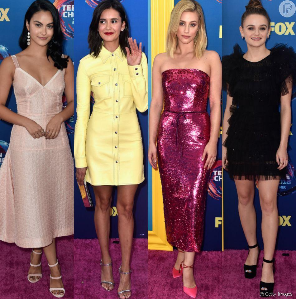 0a534bf3ff3d5 Veja as fotos e detalhes dos looks das famosas no Teen Choice Awards 2018
