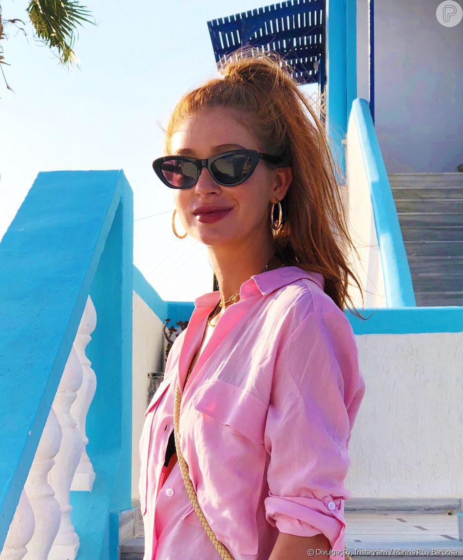 39e0e0e8f3e10 Marina Ruy usou óculos de gatinho Colcci - Purepeople