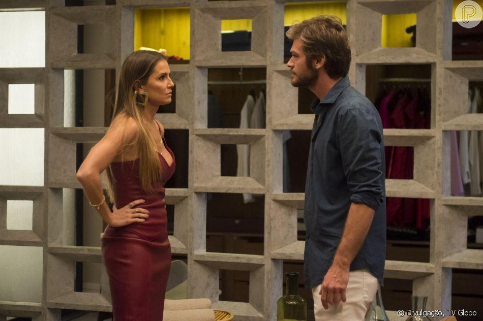 Beto Falcão (Emílio Dantas) dá um fora em Karola (Deborah Secco) para reatar namoro com Luzia (Giovanna Antonelli) nos próximos capítulos da novela 'Segundo Sol': 'Vou casar com ela'