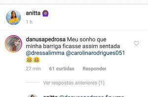 Anitta brinca sobre barriga seca em foto de biquíni: 'Fiz uma lipo poderosa'