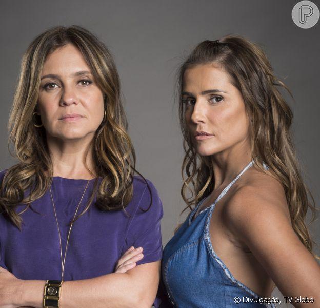 Laureta (Adriana Esteves) avança em Karola (Deborah Secco) e esbofeteia a cúmplice nos próximos capítulos da novela 'Segundo Sol': 'Cobrinha! Traíra! Falsa!'