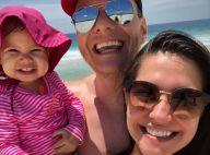 Melinda incentiva pai, Michel Teló, em brinquedo: 'Você consegue, neném'. Vídeo!