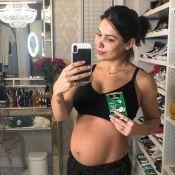 Bella Falconi evita cinta e exibe barriga pós-parto:'Deixando músculo trabalhar'