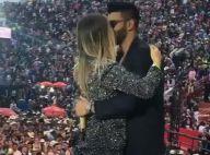 Andressa Suita e Gusttavo Lima trocam beijo em palco do show em Barretos. Vídeo!