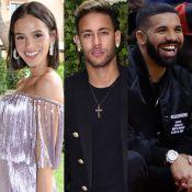 Bruna Marquezine brinca em foto de Neymar com Drake: 'Neyney, você me ama?'