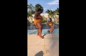 Anitta dança funk na piscina com Jojo Toddynho em dia de folga. Vídeo!