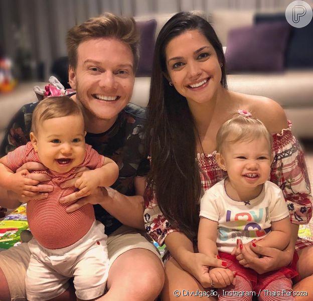 Thais Fersoza contou que despista a filha, Melinda, sobre ausência de Michel Teló
