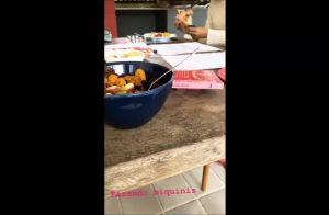 Cauã Reymond filma a filha, Sofia, fazendo roupa para boneca: 'De malhação'