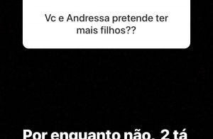 Gusttavo Lima afasta planos de ter mais filhos com Andressa Suita: '2 está bom'