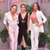 Trio fashion! Antonelli, Leticia Colin e Deborah Secco usam lingerie à mostra