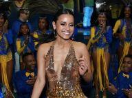 Gleici Damasceno, com look decotado, mostra samba no pé em evento de carnaval