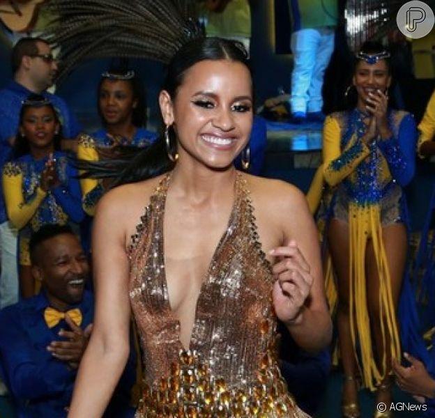 Gleici Damasceno foi apresentada como destaque da Paraíso do Tuiuti para o carnaval 2019 em evento na quadra da escola nesta sexta-feira, 21 de setembro de 2018