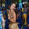 Gleici Damasceno escolheu look do estilista Jean Carlos para ser apresentada como destaque da Paraíso do Tuiuti