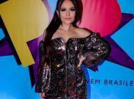 Larissa Manoela investe em brilho com vestido de paetê para o PJB 2018. Fotos!