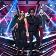 Lulu Santos posa ao lado de Ivete Sangalo, Carlinhos Brown e Michel Teló no 'The Voice Brasil'