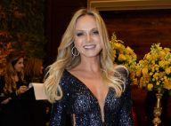 Eliana escolhe vestido decotado com brilhos para casamento de chef, em São Paulo