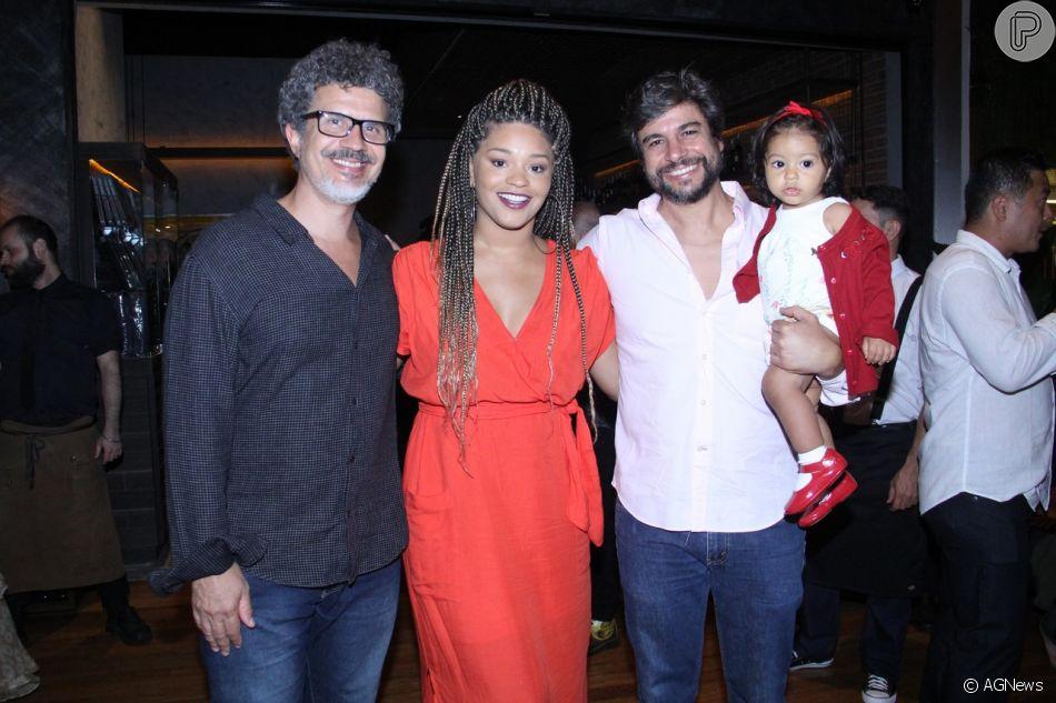 Juliana Alves prestigiou a inauguração do restaurante Sal Gastronomia, do chef Henrique Fogaça, no shopping Village Mall, na zona oeste do Rio, nesta segunda-feira, 8 de outubro de 2018