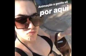 De biquíni, Naiara Azevedo exibe silhueta mais magra em dia de piscina. Vídeo!
