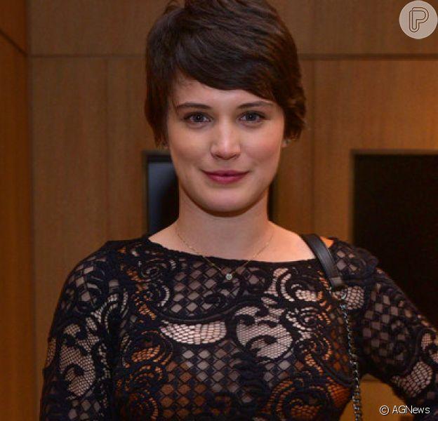 Bianca Bin descartou a possibilidade de engravidar do namorado, Sergio Guizé, no momento