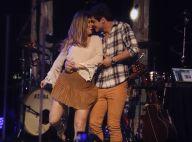 Lucas Veloso dança forró com a namorada, Nathalia Melo, em show. Fotos!