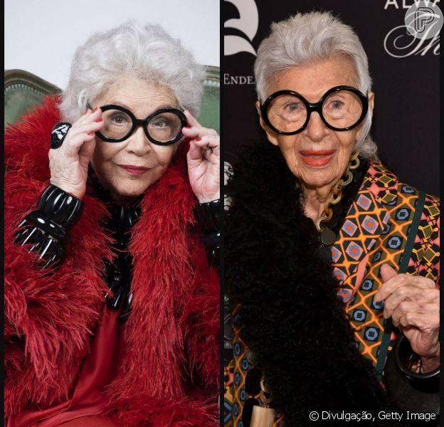 Nathália Timberg deu início as comemorações do seu 90º aniversário interpretando a empresária e designer Iris Apfel na peça 'Através da Iris', que estreou na última quinta-feira (11), no Teatro Maison de France