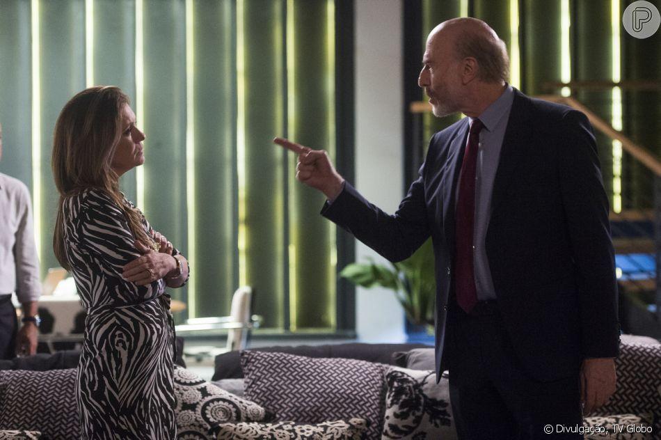 Laureta (Adriana Esteves) revela que sofreu abuso sexual de Severo (Odilon Wagner) em 'Segundo Sol'