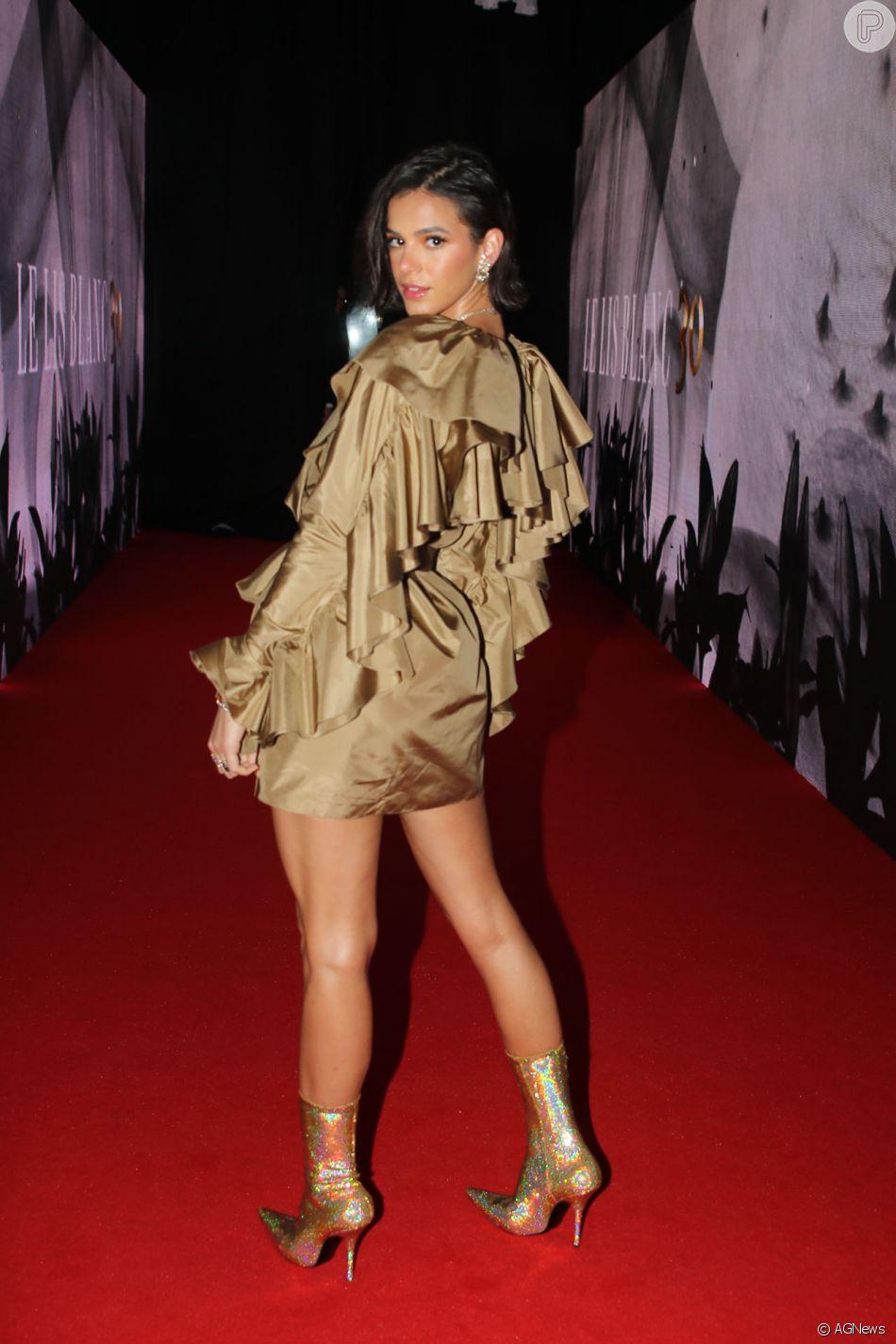 Bruna Marquezine prestigia o aniversário de 30 anos da marca Le Lis Blanc, em um desfile de moda organizado em São Paulo, na noite desta quinta-feira, 18 de outubro de 2018