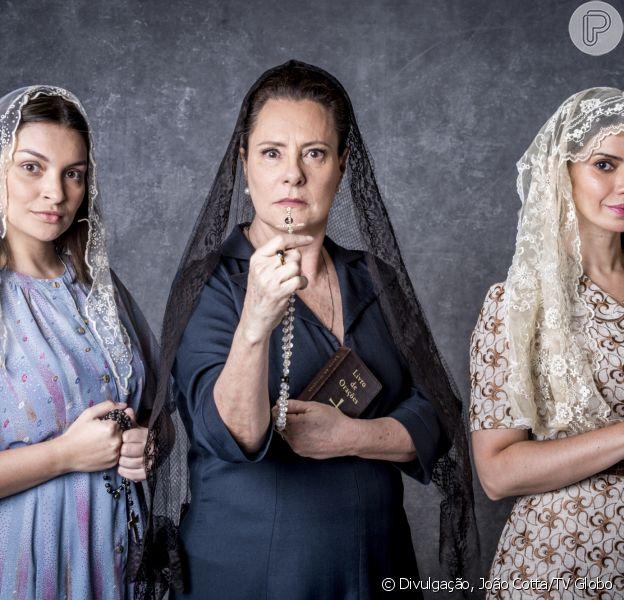 Na nova novela das 9, 'O Sétimo Guardião', a cidade de Serro Azul terá um grupo de religosos fervorosos