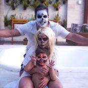 Filho de Simone, dupla com Simaria, se fantasia para Halloween: 'Abóbora'. Veja!