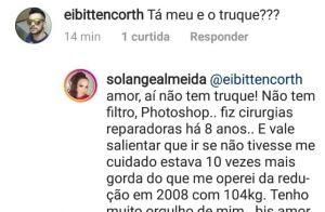 Solange Almeida rebate fã que questionou foto de biquíni: 'Sem truque ou filtro'