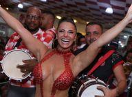 Viviane Araujo arrasa em decote profundo para ensaio no Salgueiro. Veja fotos!