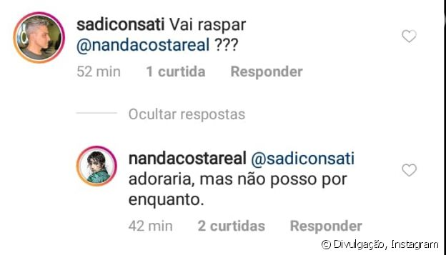 Nanda Costa revela desejo por raspar o cabelo