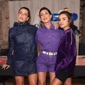 Roxo é a escolha das famosas em evento de marca de fast fashion em São Paulo