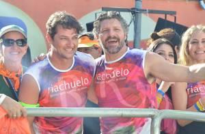Carnaval: Marcelo Serrado se diverte em show do Chiclete com Banana em Salvador