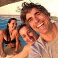 De férias, recentemente, o ator viajou de férias com amigas para Grécia