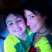 Matheus, primeiro filho da atriz Juliana Knust, completa 4 anos. Veja fotos!