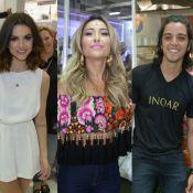 Manu Gavassi, Sabrina Sato e Rodrigo Simas causam tumulto em evento de beleza