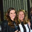 Maria Cristina, mãe de Juliana Paiva, foi fotografada com a filha no estádio