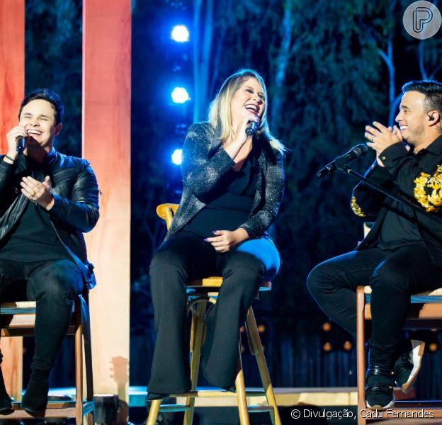 Matheus e Kauan gravaram com Marília Mendonça para o DVD 'Moda Para Tudo', em Goiás, nesta quarta-feira, 4 de dezembro de 2018
