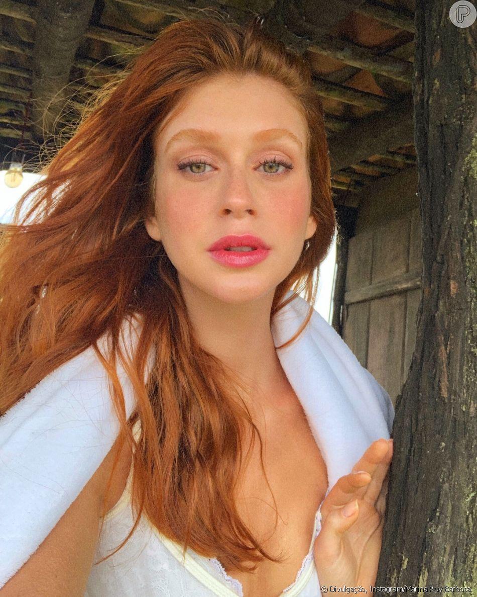 322e9226b0ab2 Marina Ruy Barbosa posta  selfie matinal  e famosas elogiam nesta  segunda-feira,