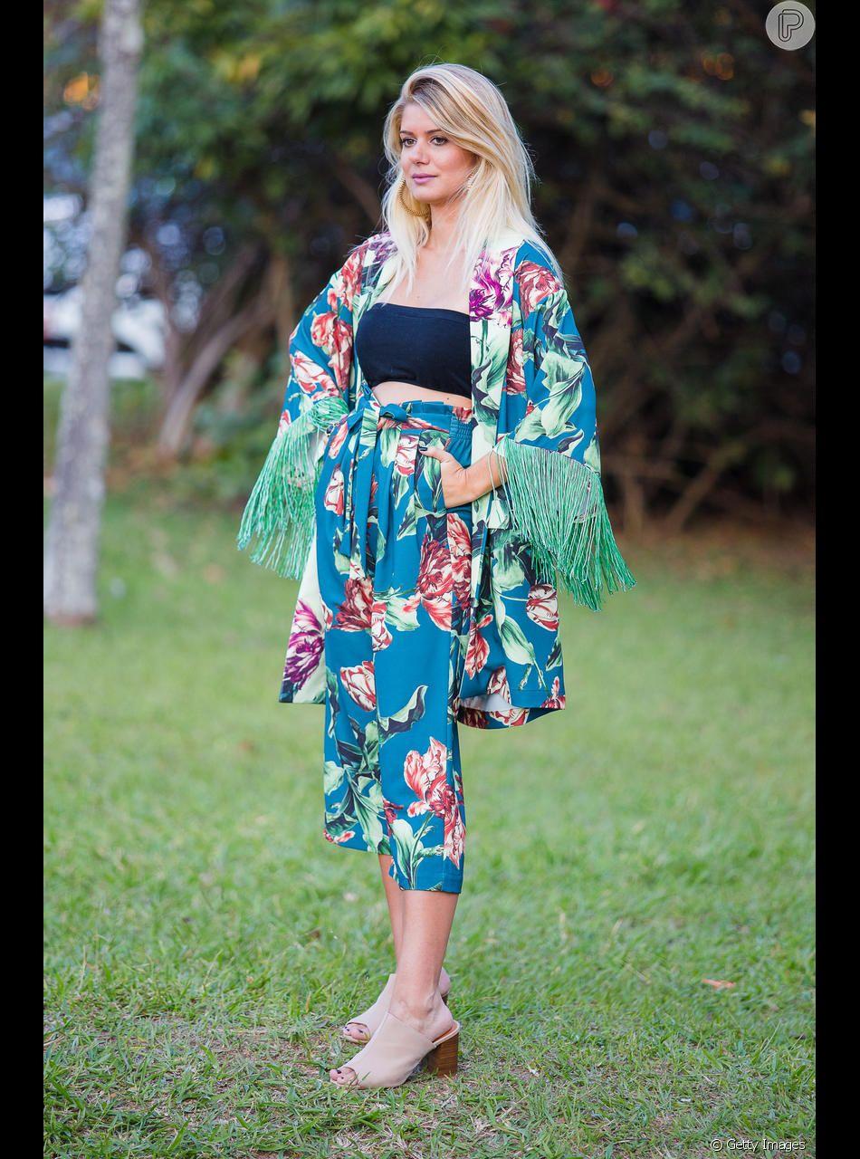 O kimono pode combinar com uma das peças de baixo
