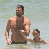 Marcelo Faria curte praia com a filha, Felipa: 'Te amo, meu Rio'