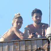 Bruno Gagliasso comemora aniversário de Giovanna Ewbank em piscina de hotel