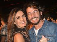 Fátima Bernardes brilha com longo rendado em festa com Túlio Gadêlha. Fotos!