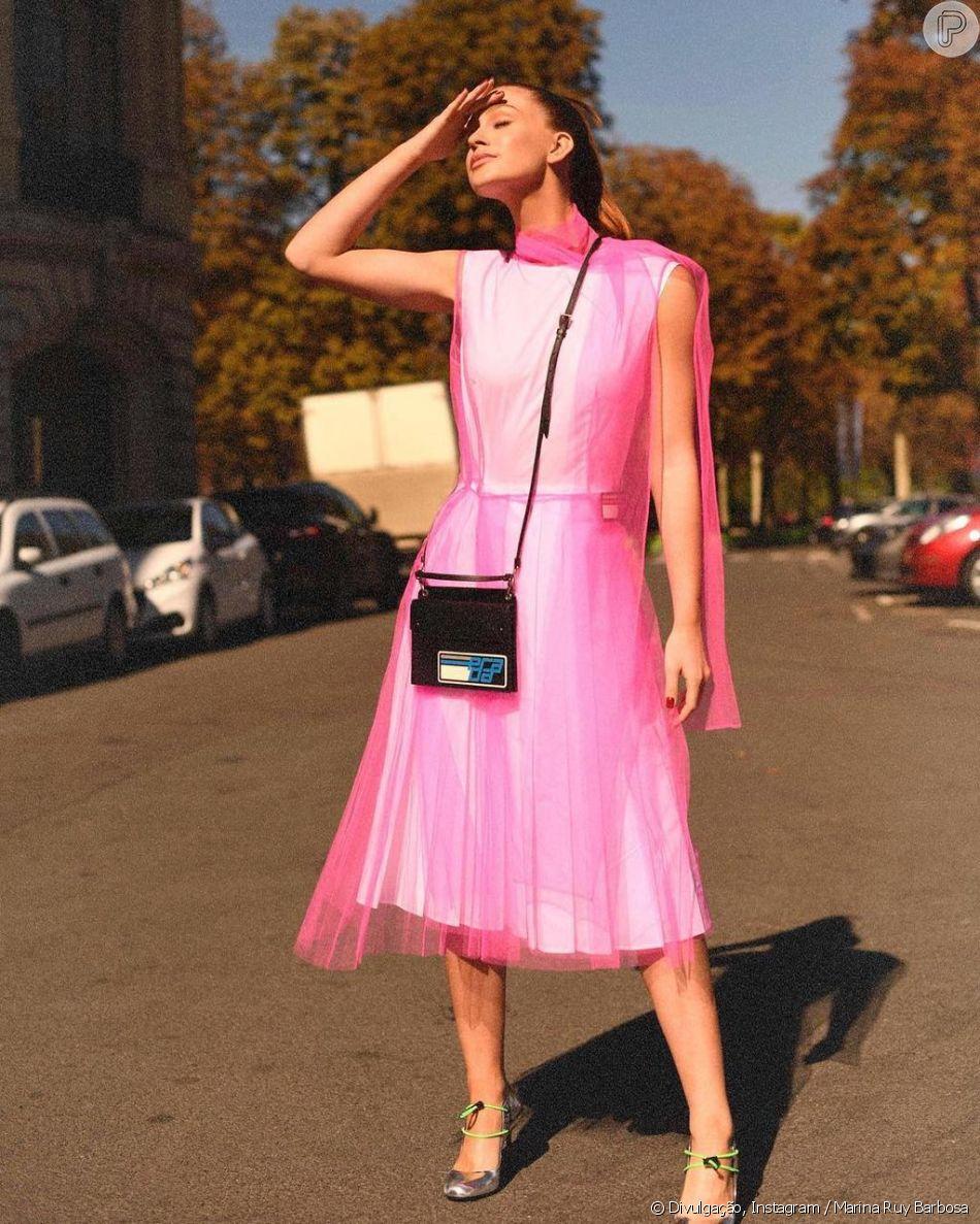 Marina Ruy Barbosa: pink + transparência