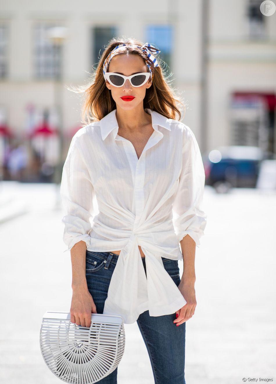 Camisa branca: versátil!